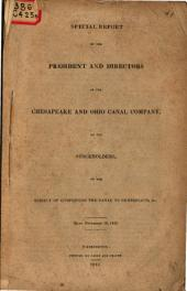 Special Report on the Subject of Completing the Canal to Cumberland &c
