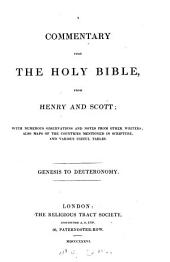 A commentary upon the holy Bible: Genesis to Deuteronomy, Volume 1