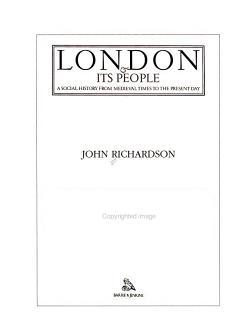 London   Its People PDF