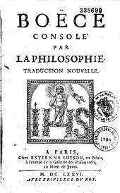 Boèce consolé par la philosophie: traduction nouvelle