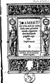 Opuscula in anabapt. errores et animadvers. et de sacrificio Missae