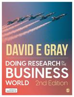 Doing Research in the Business World PDF