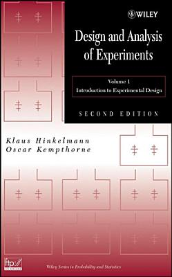 Design and Analysis of Experiments  Volume 1 PDF