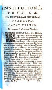 Institutiones philosophicae ad studia theologica potissimum accomodatae