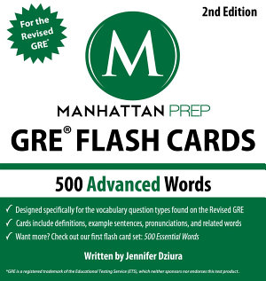 500 Advanced Words  GRE Vocabulary Flash Cards