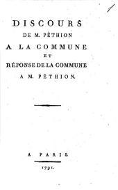 Discours à la commune et réponse de la commune