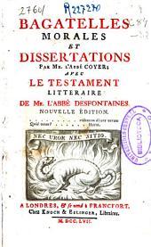 Bagatelles morales et dissertations