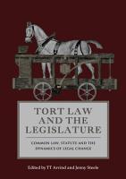 Tort Law and the Legislature PDF