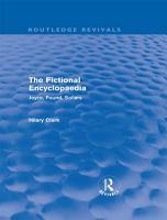 The Fictional Encyclopaedia  Routledge Revivals  PDF