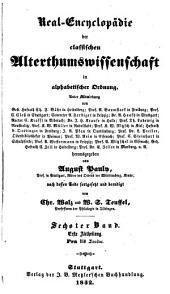Pauly's real-encyclopädie der classischen altertumswissenschaft ...