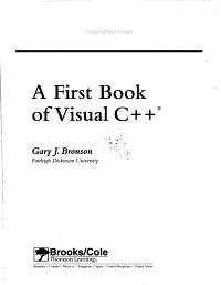 A First Book of Visual C