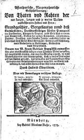 Ankündigung und Probe einer neuen Ausgabe mit Anmerkungen von D. Johann Fischarts Uebersetzung des ersten Buchs von Rabelais Gargantua, so bekannt ist unter dem Tittel: Affentheurliche, Naupengeheurliche Geschichtklitterung, etc. [By H. G. von Bretschneider.]