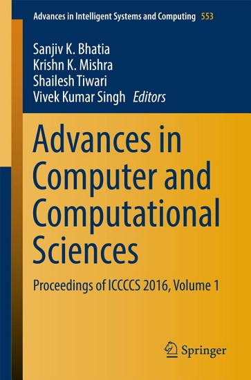 Advances in Computer and Computational Sciences PDF