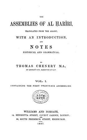 The Assemblies of Al    ar  ri PDF