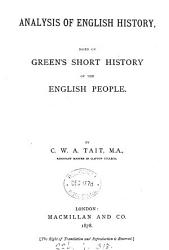 Analysis of English History  Based on Green s Short History of the English People PDF