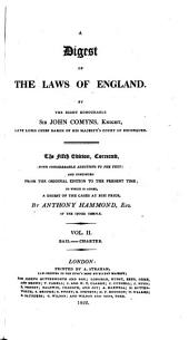 Comyns Digest of the Laws of England