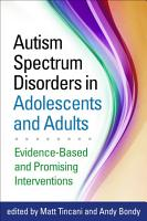 Autism Spectrum Disorders in Adolescents and Adults PDF