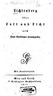 Über Luft und Licht: Mit Kupfertaf, Band 2