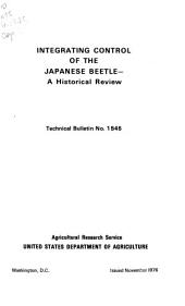 Integrating control of the Japanese beetle: a historical review