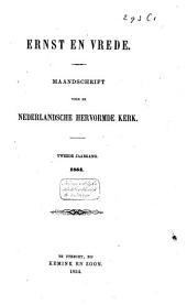 Ernst en vrede: maandschrift voor de Nederlandsche Hervormde Kerk, Volume 2