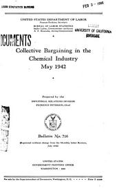 Collective Bargaining in the Chemical Industry, May 1942