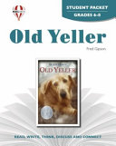 Old Yeller Student Packet Book PDF