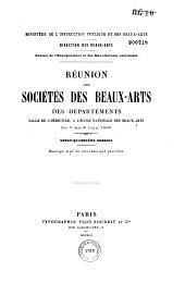Réunion des sociétés savantes des Beaux-Arts des départements à la Sorbonne: 1900