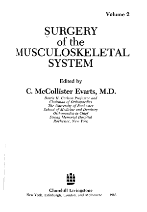 Surgery of the Musculoskeletal System