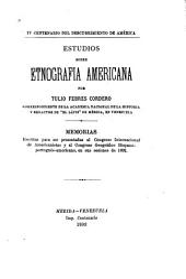 Estudios sobre etnografia Americana