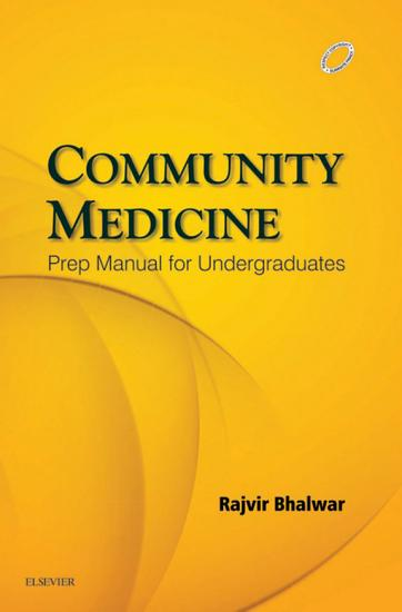 Community Medicine  Prep Manual for Undergraduates   E Book PDF