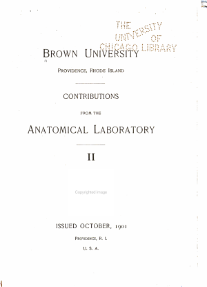 Contributions from the Biological Laboratory  formerly Anatomical Laboratory  PDF
