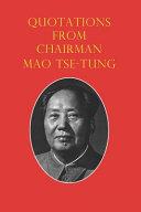 Quotations from Chairman Mao Tse Tung PDF