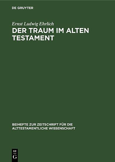 Der Traum im Alten Testament PDF