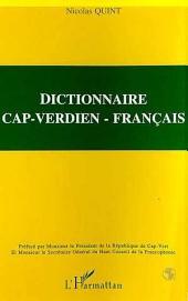 DICTIONNAIRE CAP-VERDIEN - FRANÇAIS