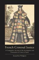 French Criminal Justice PDF