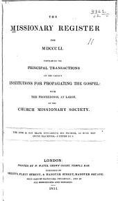 Missionary Register: Volume 39