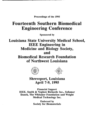 Proceedings of the     Southern Biomedical Engineering Conference PDF