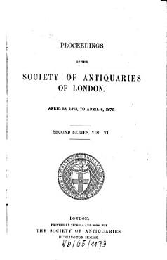 Proceedings of the Society of Antiquaries of London PDF
