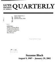 Lute Society of America Quarterly PDF