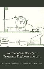 Journal of the Society of Telegraph Engineers and of Electricians
