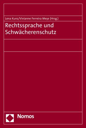 Rechtssprache und Schw  cherenschutz PDF
