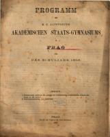Programm des K K  Altst  dter Akademischen Staats Gymnasiums in Prag PDF