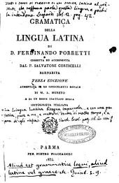 Gramatica della lingua latina di Ferdinando Porretti