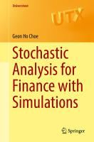 Stochastic Analysis for Finance with Simulations PDF