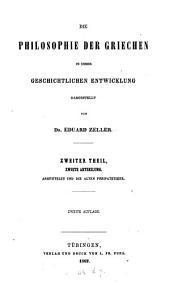 Die Philosophie der Griechen: t. Sokrates, Plato, Aristoteles
