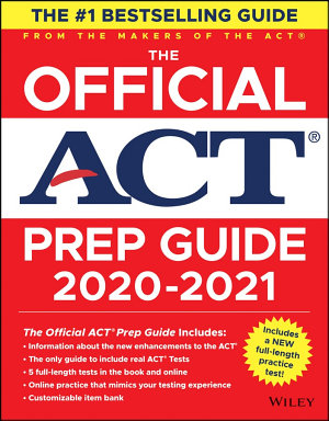 The Official ACT Prep Guide 2020   2021   Book   Bonus Online Content