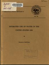 Estimated Use of Water in the United States, 1950