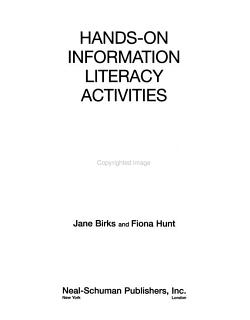 Hands on Information Literacy Activities PDF