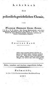 Lehrbuch der polizeilich-gerichtlichen Chemie: Band 2