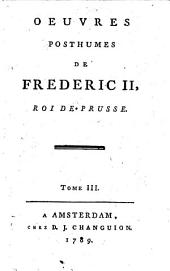 Oeuvres posthumes de Frederic II, Roi de Prusse: Volume2